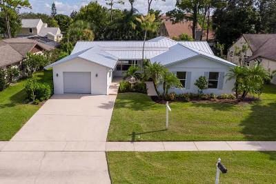Jupiter Single Family Home For Sale: 600 Oak Terrace