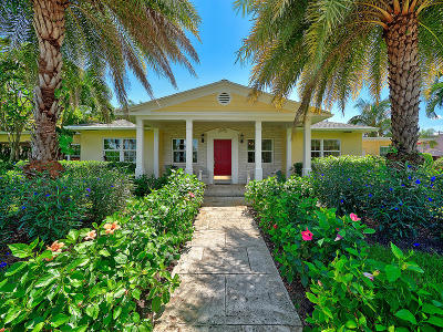 Lake Worth Single Family Home For Sale: 1130 Lakeside Drive