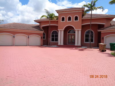 Broward County, Palm Beach County Single Family Home For Sale: 11000 Blackhawk Boulevard