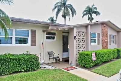 West Palm Beach Single Family Home For Sale: 2633 Barkley Drive E #B