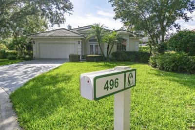 Jupiter Single Family Home For Sale: 496 Peacock Lane