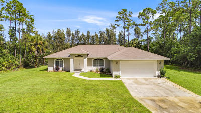 Loxahatchee Single Family Home For Sale: 15059 64th Place