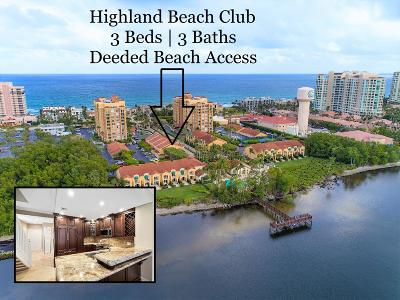 Highland Beach Condo For Sale: 3596 S Ocean Boulevard #108