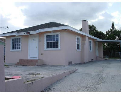 West Palm Beach Single Family Home For Sale: 816 20th Street