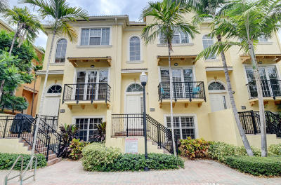 Delray Beach Townhouse For Sale: 607 Renaissance Lane