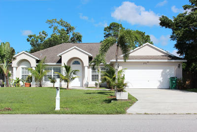 Port Saint Lucie FL Single Family Home Sold: $249,000