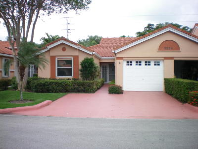 Boynton Beach Single Family Home For Sale: 9904 Summerbrook Terrace #A