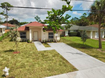 Jupiter Single Family Home For Sale: 6671 1st Street