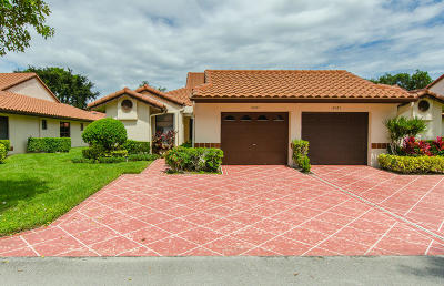 Delray Beach Single Family Home Contingent: 6087 Kings Gate Circle