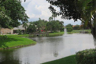 Boca Raton Single Family Home Contingent: 10872 Lake Front Place