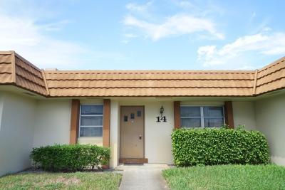 West Palm Beach Single Family Home For Sale: 5730 Fernley Drive E #14