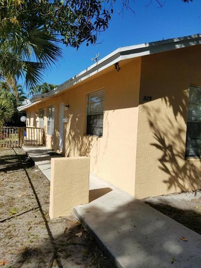 West Palm Beach Multi Family Home For Sale: 929 Alamanda Road #A