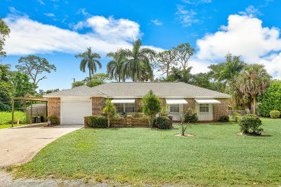 Jupiter Single Family Home For Sale: 5554 Hibiscus Road
