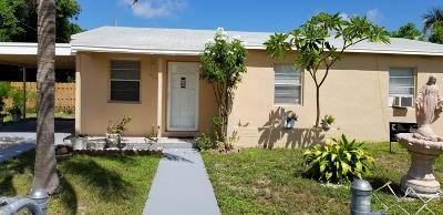 Lake Worth Single Family Home For Sale: 1426 S B Street