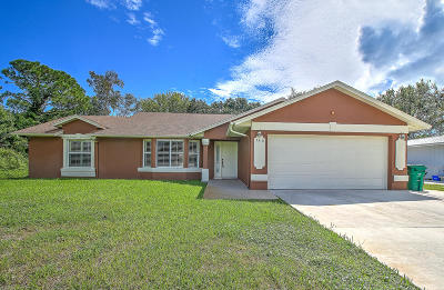 Fort Pierce Single Family Home For Sale: 5410 Myrtle Drive