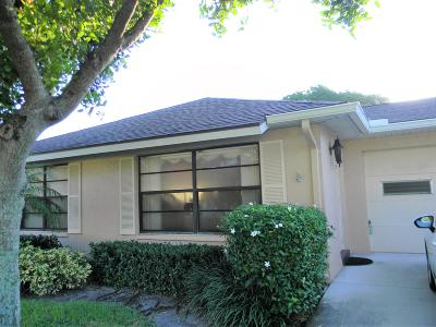 Boynton Beach Single Family Home For Sale: 9890 Cassia Tree Way #A