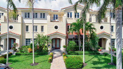 Delray Beach Townhouse For Sale: 1210 Palm Trail