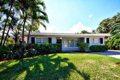 Lake Worth Single Family Home For Sale: 1723 Lakeside Drive