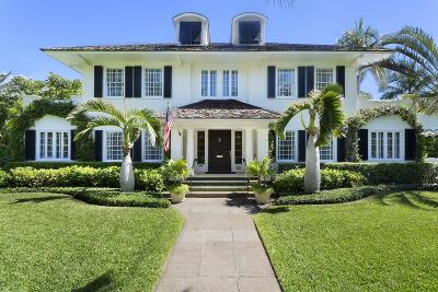 Palm Beach FL Single Family Home For Sale: $9,900,000