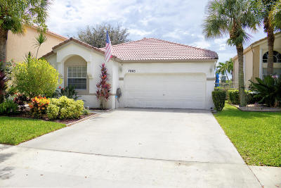 Lake Worth Single Family Home For Sale: 7865 Rockport Circle