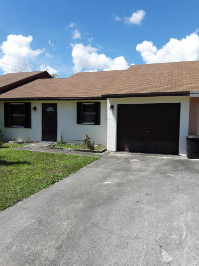 Lake Worth Single Family Home Contingent: 5713 Wingham Way
