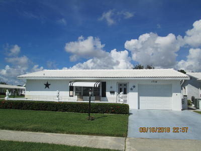 Boynton Beach Single Family Home For Sale: 1715 SW 22nd Street