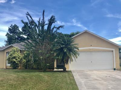 Port Saint Lucie Single Family Home For Sale: 3571 SW Savona Boulevard