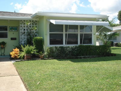 Boynton Beach Single Family Home For Sale: 130 South Boulevard #D