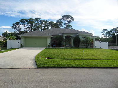 Port Saint Lucie Single Family Home For Sale: 2691 SW Ace Road