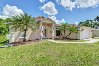 Port Saint Lucie Single Family Home Contingent: 1749 SW Victor Lane