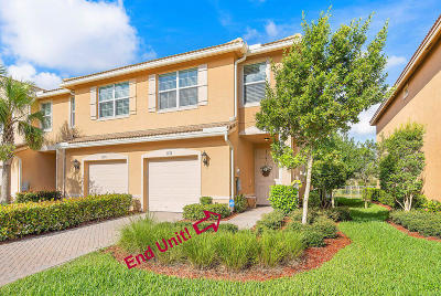 Lake Worth Townhouse For Sale: 5973 Monterra Club Drive #Lot # 18