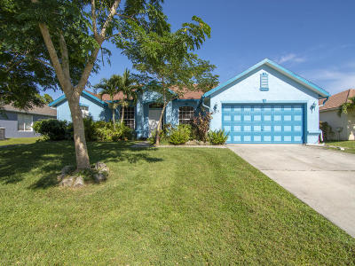 Port Saint Lucie Single Family Home For Sale: 3379 SW Foremost Drive