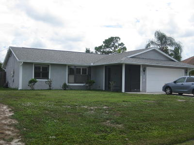 Port Saint Lucie Single Family Home For Sale: 502 SW Dairy Road