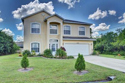 Port Saint Lucie Single Family Home For Sale: 6176 NW Gatun Drive