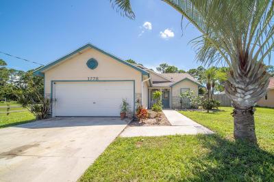 Port Saint Lucie Single Family Home For Sale: 1778 SW Millikin Avenue