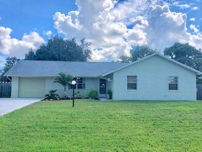 Port Saint Lucie Single Family Home For Sale: 325 NW Dorchester Street
