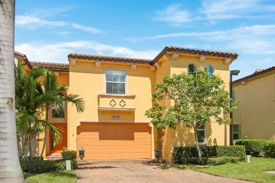 Palm Beach Gardens Townhouse For Sale: 4533 Mediterranean Circle