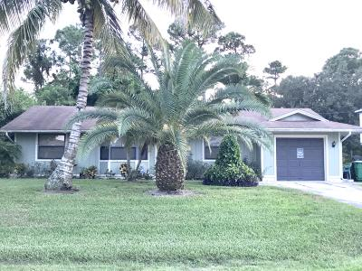 Port Saint Lucie Single Family Home For Sale: 1668 SW Mackey Avenue