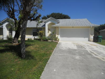 Port Saint Lucie Single Family Home For Sale: 3825 SW Koba Street