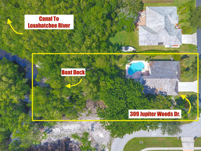 Jupiter Single Family Home For Sale: 309 Jupiter Woods Drive