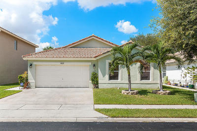 Boynton Beach Single Family Home For Sale: 1009 Fosters Mill Road