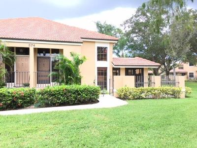 Palm Beach Gardens Townhouse For Sale: 374 Prestwick Circle #4