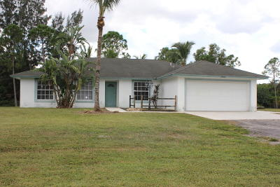 Loxahatchee FL Single Family Home For Sale: $310,000