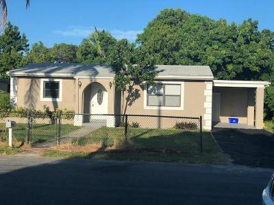 Lake Worth Single Family Home For Sale: 1107 S D Street