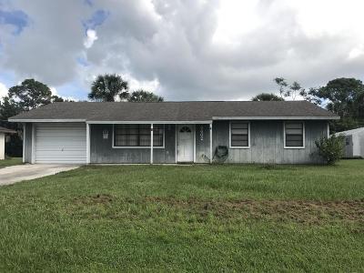 Fort Pierce Single Family Home For Sale: 8602 Lakeland Boulevard