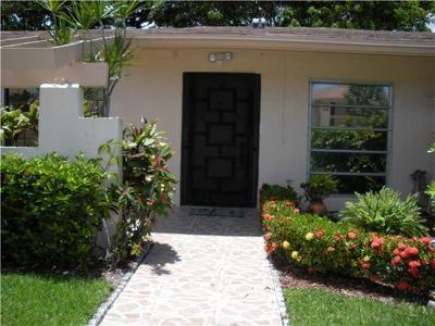 Delray Beach FL Single Family Home For Sale: $100,000