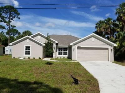 Port Saint Lucie Single Family Home For Sale: 1119 SW Gardena Avenue