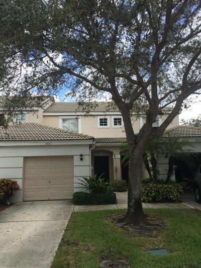 West Palm Beach Townhouse For Sale: 4815 Palmbrooke Circle