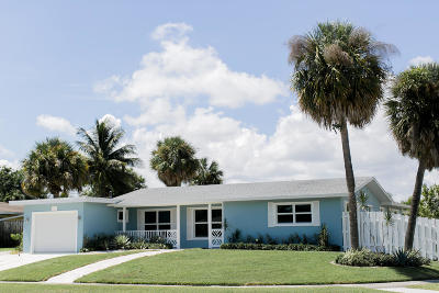 Lake Worth Single Family Home For Sale: 1623 W Terrace Drive