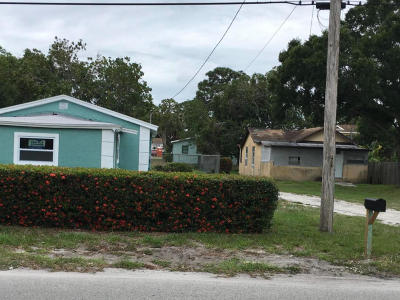 Fort Pierce Single Family Home For Sale: 1101 22nd Street
